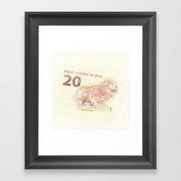 20 Reales Framed Art Print
