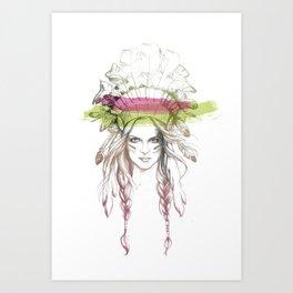 Indian woman (summer version) Art Print