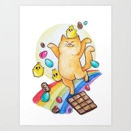 Chocolate happiness Art Print