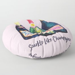 Sparkle Like champagne Floor Pillow