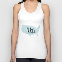 usa Tank Tops featuring USA by Gabriela Fuente