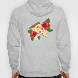 Hawaiian Pizza in a Hawaiian Print Hoody