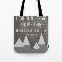 I CAN // Philippians 4:13 Tote Bag