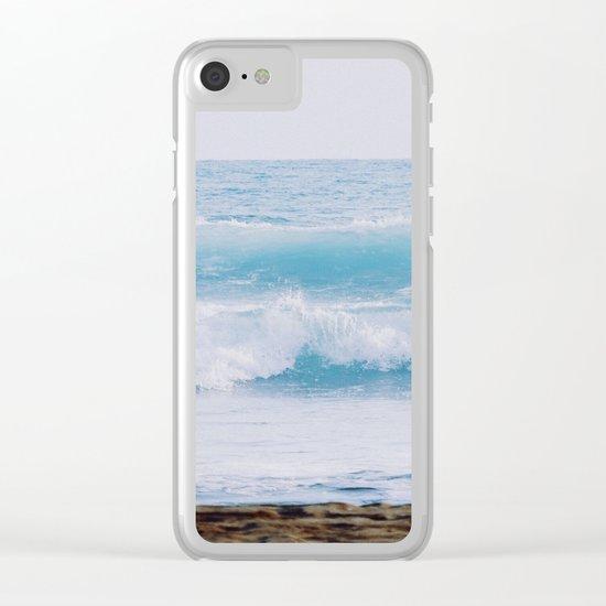 Pastel Ocean #waves Clear iPhone Case