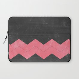 Washed Grey and Pink Chevron Laptop Sleeve