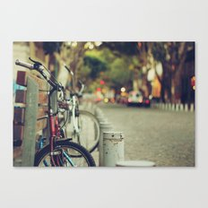 The street is quiet Canvas Print