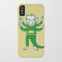 kaiju iPhone & iPod Cases featuring thegoodhabit kaiju by TheGoodHabit