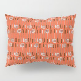 Barbecue Thongs - BBQ Doodle Pattern Pillow Sham