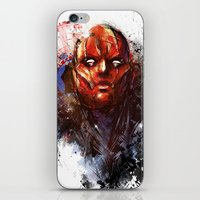 red hood iPhone & iPod Skins featuring Red Hood by Vincent Vernacatola