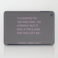 poem iPad Cases featuring Poem #1077 by Deep Search