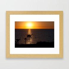 Sunset in Cyprus Framed Art Print