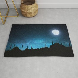 Istanbul, Hagia Sophia and Blue Mosque; Starry Night Rug