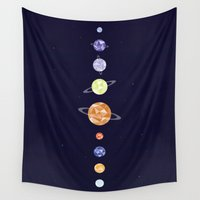 planets Wall Tapestries featuring Planets by Dorothy Leigh