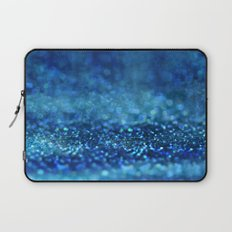 Aqua Glitter effect- Sparkling print in different blue Laptop Sleeve