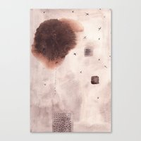 poem Canvas Prints featuring Landscape Poem by Margarita Mascaro