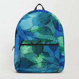 Alcohol Ink Leaves Backpack