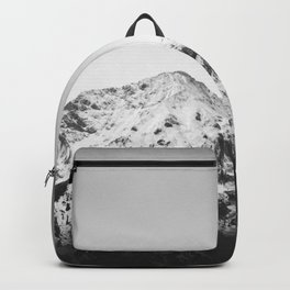 Black and white snowy mountain Backpack