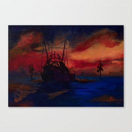Red sky at night, sailor's delight. Canvas Print