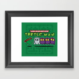 Hero in a Pac-Shell (Raph) Framed Art Print