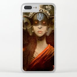 Hecate in a Crown Clear iPhone Case