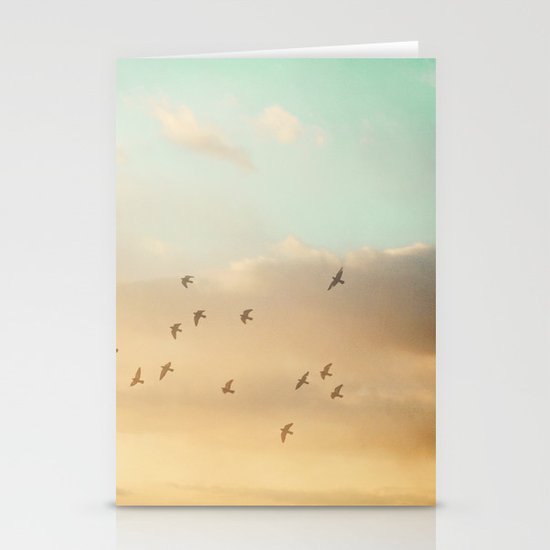 Flock of Seventeen Stationery Cards