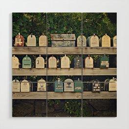 Mailboxes Wood Wall Art