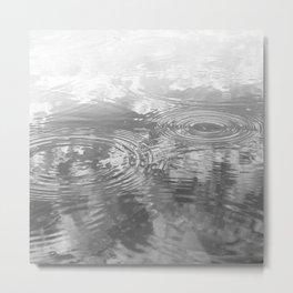 Raindrops on Water Metal Print