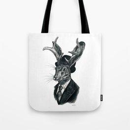 Gentleman Jackalope Tote Bag