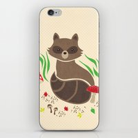 raccoon iPhone & iPod Skins featuring Raccoon by Lynette Sherrard Illustration and Design