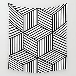 Geometric, Scandinavian, Minimal, Pattern, Modern art Wall Tapestry