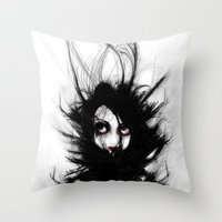 wrestling Throw Pillows featuring Coiling and Wrestling. Dreaming of You by Rouble Rust