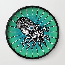Cuttlefish Hypnosis Wall Clock