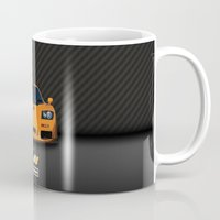 f1 Mugs featuring 1995 McLaren F1 LM  by vsixdesign