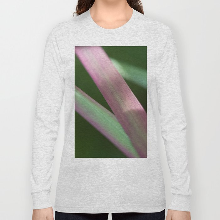 Red Baron close-up (Japanese bloodgrass) #1 #art #society6 Long Sleeve T-shirt