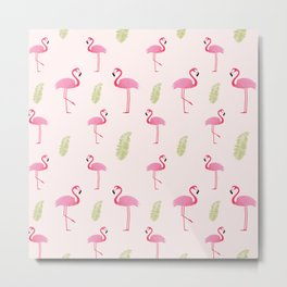 Flamingo Tropic Metal Print
