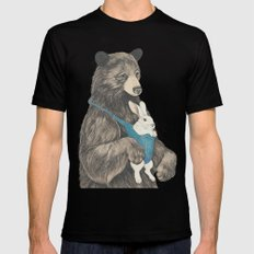the bear au pair Black LARGE Mens Fitted Tee