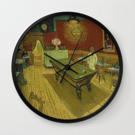 Le café de nuit (The Night Café) by Vincent van Gogh (1888) Wall Clock