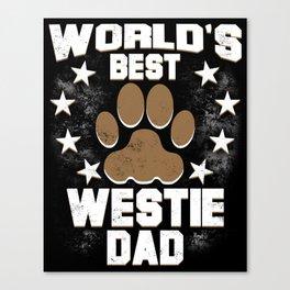 World's Best Westie Dad Canvas Print
