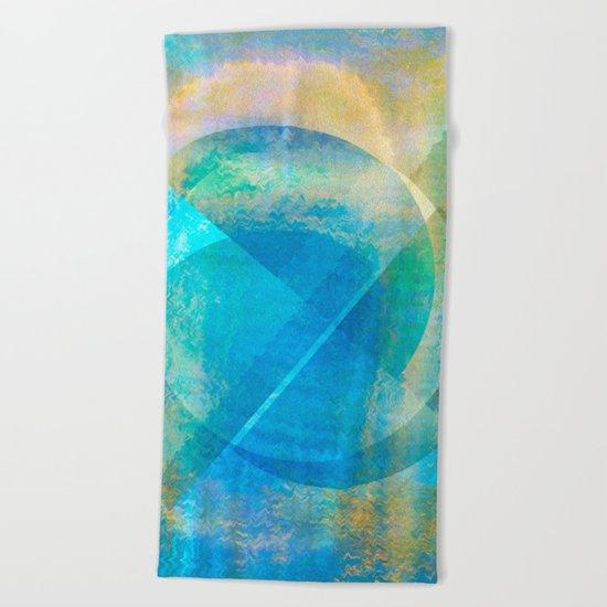 Abstract NC 02 Beach Towel