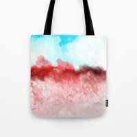 minerals Tote Bags featuring Pink Minerals by Jessielee
