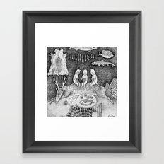 Knitting Cats Framed Art Print