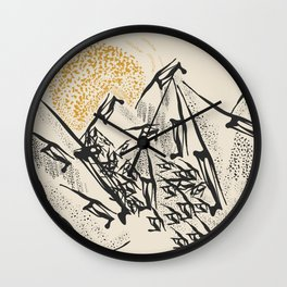 Rocky mountain Wall Clock