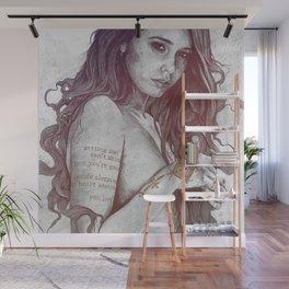 You Lied: Rainbow (nude girl with mehndi tattoos) Wall Mural