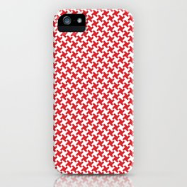 Houndstooth White & Red small iPhone Case