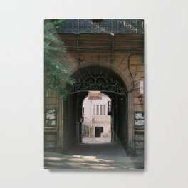 Entrance to a Courtyard in Tbilisi | Georgia Travel Photography | Former Soviet Country Architecture Gate Metal Print