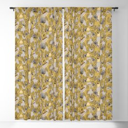 Birds of Prey in Yellow Blackout Curtain