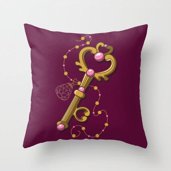 Chibiusa Time Key - Sailor Moon Throw Pillow