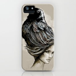 Raven Haired iPhone Case