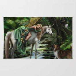 Sleeping Fairy on Unicorn Rug