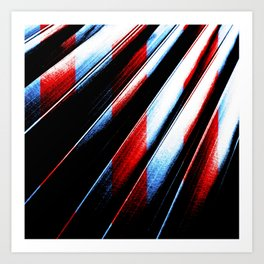 Patriotic Red White And Blue #society6 #colors Art Print